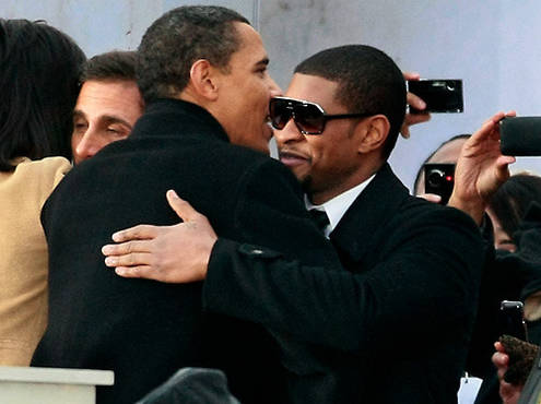 Usher and Barack Obama
